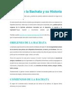 Origen de La Bachata y Su Historia
