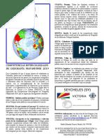 Bases Teìcnicas de Las Competencias de Geografiìa 2019