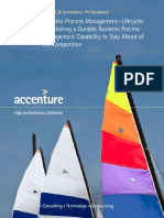 Accenture BPM Lifecycle Durable BPM Capability to Stay Ahead of Competition