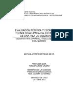 Evaluación Técnica y Económica de Tecnologías Para Calentar Refino de Una Pila de BioLX