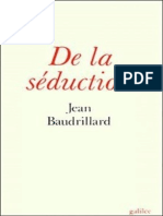 De La Seduction - Jean Baudrillard