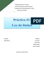Informe de Ley de Stoke (Mec. de Fluidos).docx