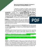 Contrato de Trabajo de Naturaleza Capunay Lopez Ana