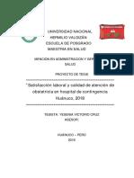 Satisfacción Laboral y Calidad de Atención en Las Puérperas de Parto Vaginal Del Hospital HRHVM Huánuco2