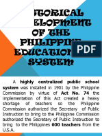 Historical Development of the Philippine Educational System
