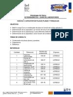 Guía No 5. Capacitor de Placas Planas y Paralelas 2