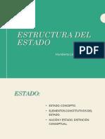 presentación estructura del estado y nociónes de Estado