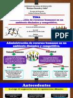 La Administracion de Recursos Humanos en Un Ambiente Dinamico y Competitivo