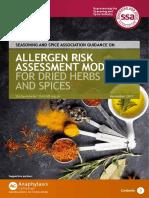 Allergen Risk Assessment