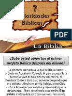 Curiosidadesd Biblicas Culto Jóven 25 Marzo