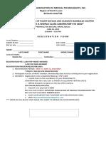Registration on Pamet Seminar