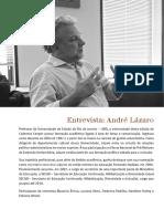 Entrevista Andre Lazaro CENPEC