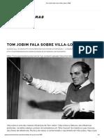 Tom Jobim Fala Sobre Villa-Lobos _ PMB
