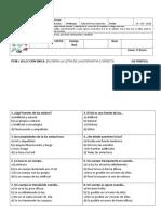 Evaluación Cs. 3º (14.06) Unidad 2 Parte 1 - La Luz