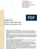 Analytical & Hortatory Exposition Text - EnGLISH