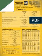 Power Systems Formulas