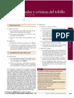 Lesiones Agudas y Cronicas Del Tobillo