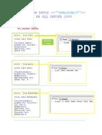 Base de Datos Biblioteca en SQL Server 2008