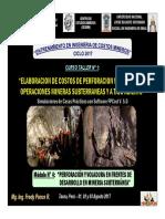 Módulo 4 - Perforación y Voladura en Frentes de Desarrollo en Mineria Subterránea (02-Ago-17)