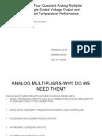 Cmos Four Quadrant Analog Multiplier