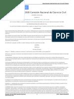 Acuerdo 116 de 2009 Comisión Nacional Del Servicio Civil