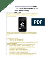 How to Jailbreak iOS 4