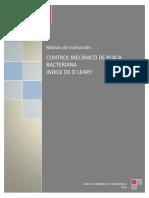 CONTROL MECÁNICO DE PLACA BACTERIANA indice de O´LEARY 2019