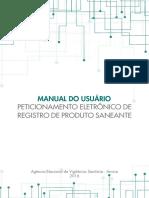 #ANVISA - Manual Do Usuário - Peticionamento Eletrônico de Registro de Produto Saneante