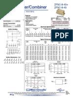 2016 Combinador Splitter 10mhz a 1000mhz Zfsc-8-43