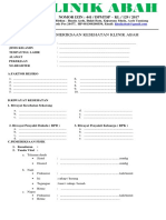 Form Pemeriksaan Klinik Abah