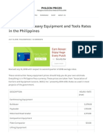 Construction Heavy Equipment and Tools Rates in the Philippines _ PHILCON PRICES