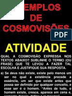 Aula 04 - Exemplos de Cosmovisão - Atividade