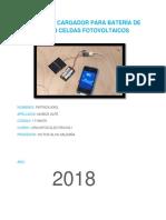 Proyecto de Cargador Para Batería de Celular Con Celdas Fotovoltaicos