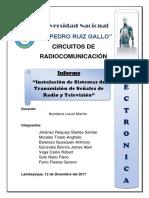 Instalación de Sistemas de Transmisión de Señales de Radio y Televisión