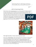 Dehumidifier for Swimming Pool In UAE, Qatar & Oman    #swimmingpooldehumidifier  #pooldehumidifier  #dehumidifier