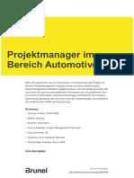 Projektmanager Im Bereich Automotive Pub218895