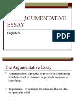 THE ARGUMENTATIVE ESSAY.ppt