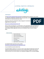 Edu Blogs Example
