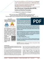 A Critical Study of Electronic Voting Machine EVM Utilization in Election Procedure