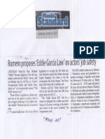Manila Standard, June 25, 2019, Romero proposes Eddie Garcia Law on actors job safety.pdf