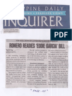 Philippine Daily Inquirer, June 25, 2019, Romero readies Eddie Garcia Bill.pdf