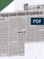 Philippine Star, June 25, 2019, Pampanga lawmaker withdraws from speakership race.pdf