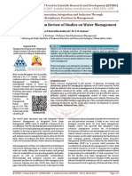 A Meta Analysis on Review of Studies on Water Management