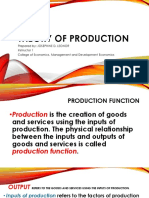 Theory of Production Slides