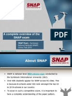 A Complete Overview of the SNAP Exam
