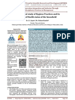 An analytical study of Hygiene Practices and its impact of Health status of the household