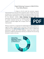 Finding the Right Digital Marketing Company in Delhi NCR for Your Online Business