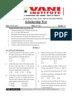 1.Scholorship Test (02!09!18) (Chennai)