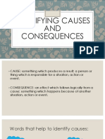 Identifying Causes and Consequences