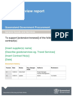Contract Review Report Template